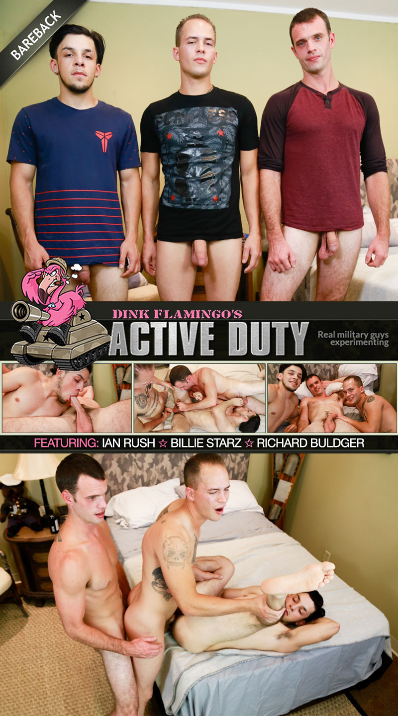 Ian Rush, Billie Starz and Richard Buldger (Bareback) at ActiveDuty