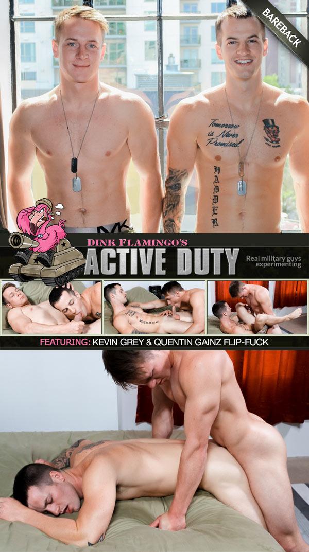 Kevin Grey & Quentin Gainz (Flip-Fuck Bareback) at ActiveDuty