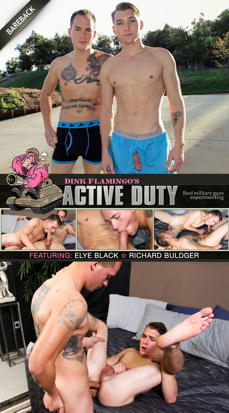 Richard Buldger Fucks Elye Black at ActiveDuty