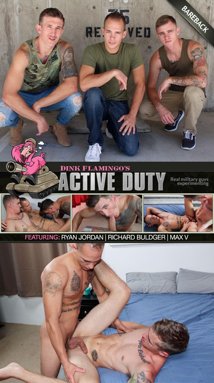 Ryan Jordan, Richard Buldger and Max V (Bareback) at ActiveDuty