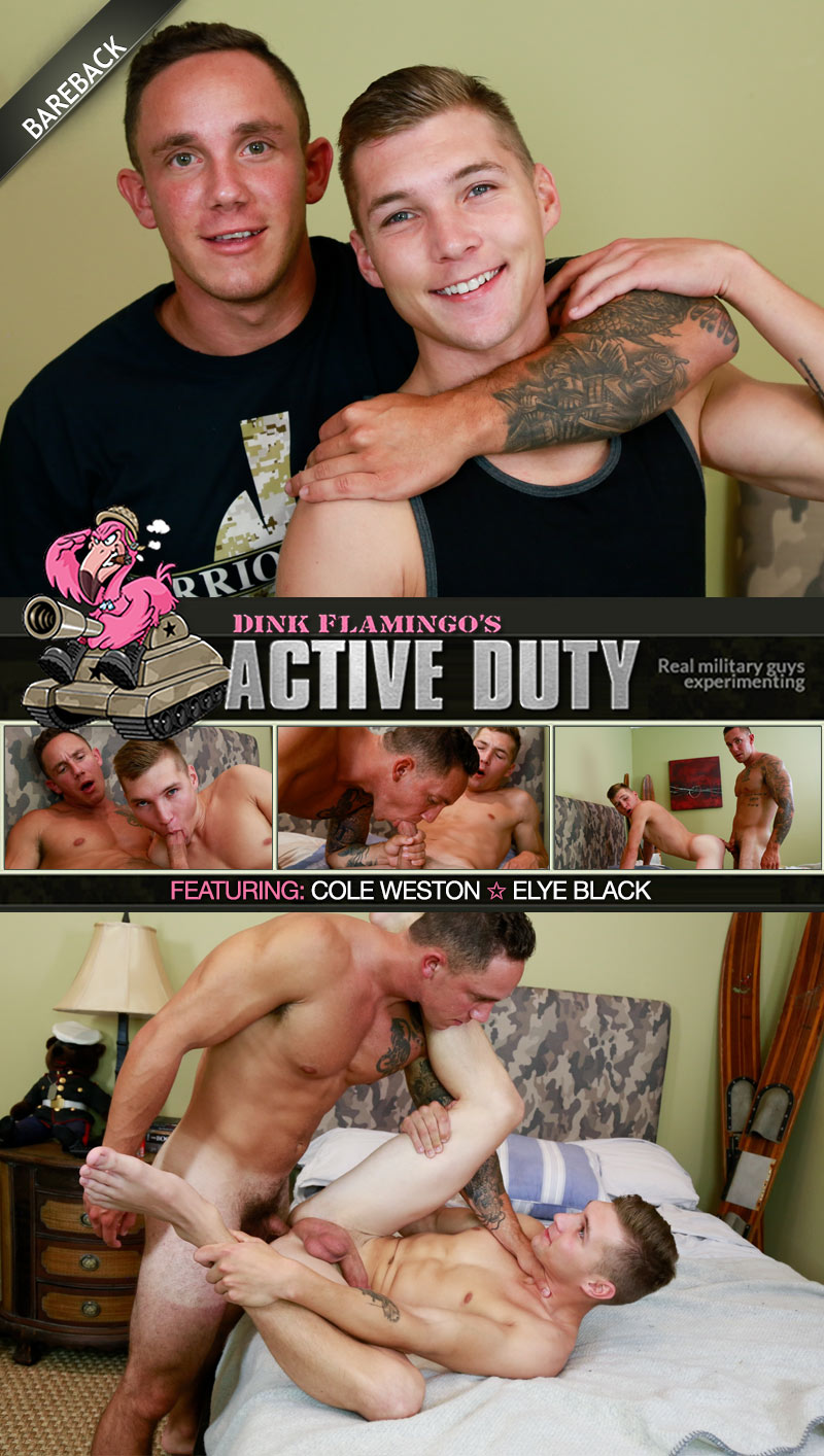 Cole Weston Fucks Elye Black (Bareback) at ActiveDuty
