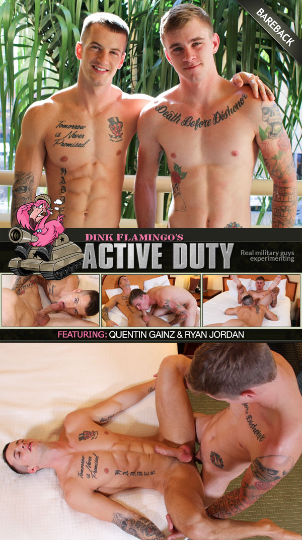 Quentin Gainz & Ryan Jordan (Bareback Flip-Fuck) at ActiveDuty