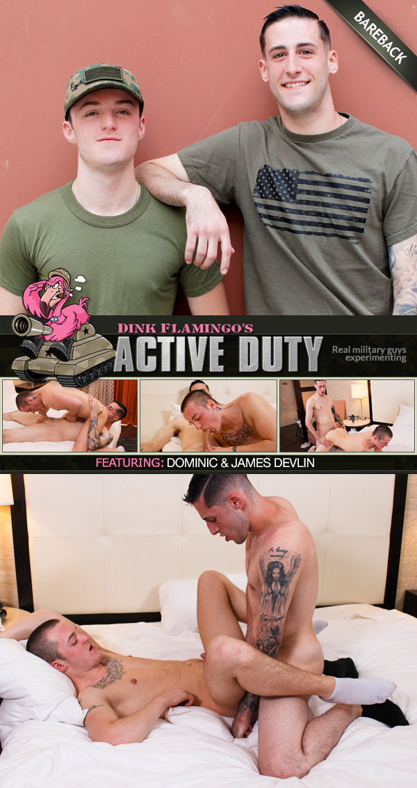 James Devlin Fucks Dominic (Bareback) at ActiveDuty