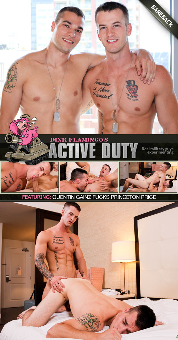Quentin Gainz & Princeton Price's Bareback Flip-Fuck at ActiveDuty