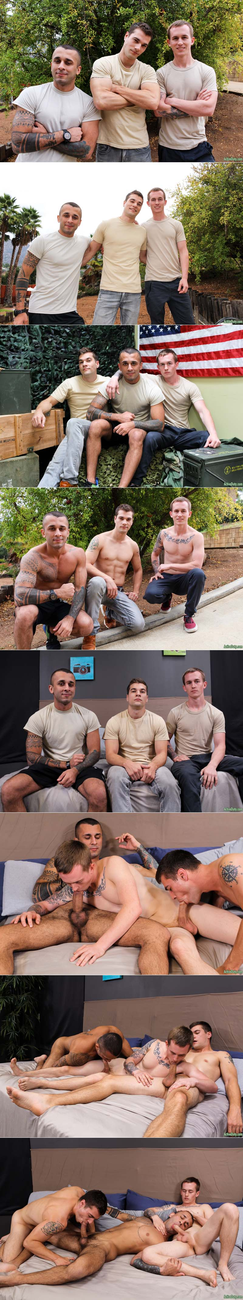 Laith Inkley, Kevin Texas and Princeton Price (Bareback) at ActiveDuty