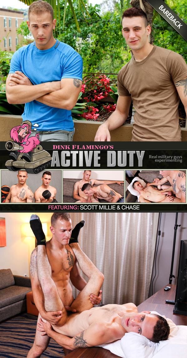 Chase Fucks Scott Millie (Bareback) at ActiveDuty