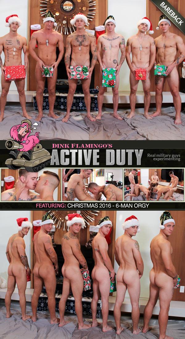 ActiveDuty's Christmas 2016 - 6-Man Orgy at ActiveDuty