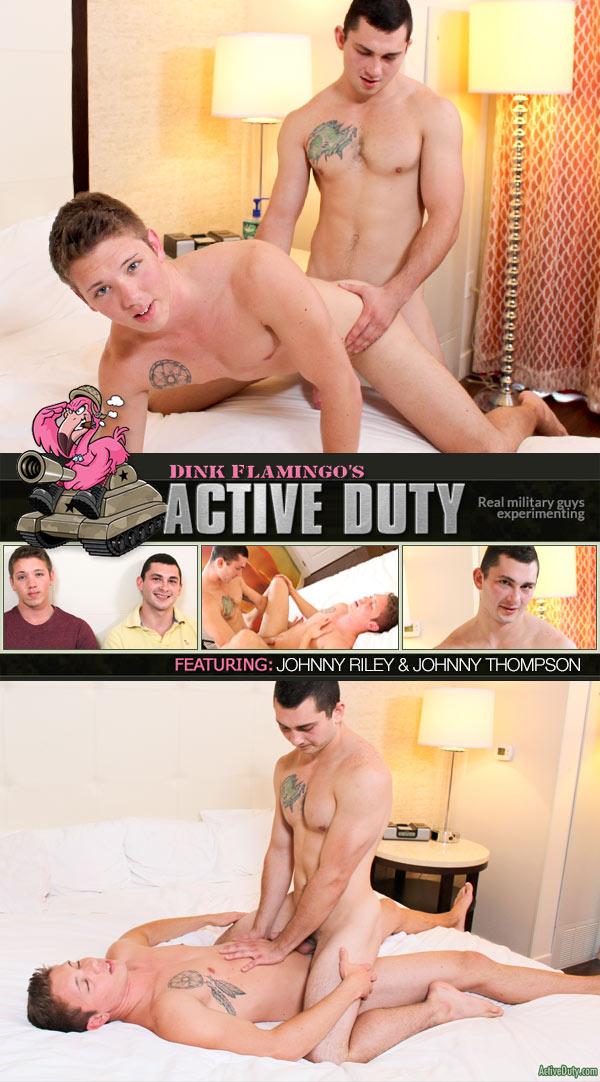 ActiveDuty: Johnny Riley & Johnny Thompson (Bareback Flip-Fuck) at ActiveDuty