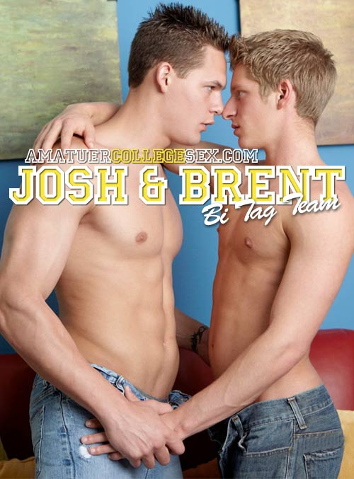 Josh & Brent's Bi Tag Team at AmateurCollegeSex
