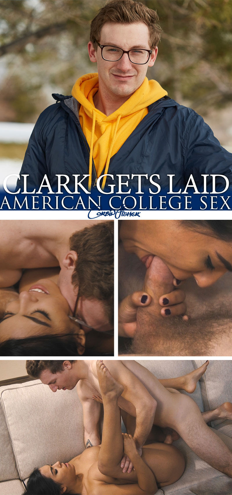 Clark Gets Laid (Bareback) at AmateurCollegeSex