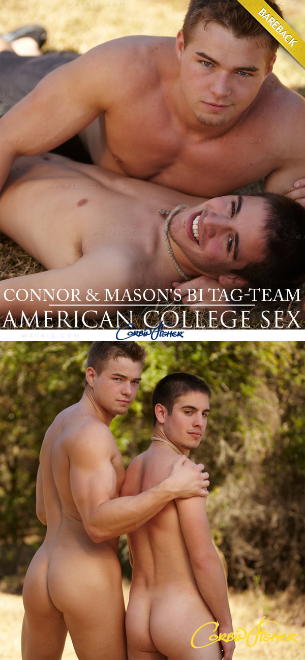 Connor & Mason's Bi Tag-Team (Bareback) at American College Sex