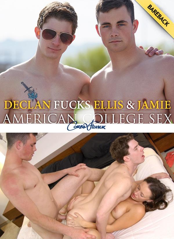 Declan Fucks Ellis & Jamie at AmateurCollegeSex