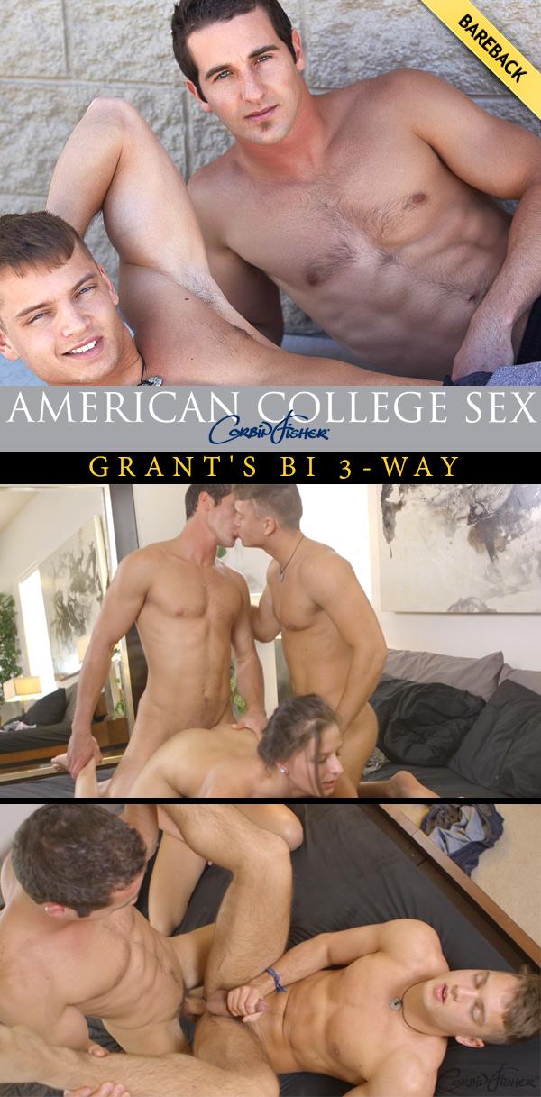 Grant's Bi 3-Way (Grant, Jasper & Laura) at AmateurCollegeSex