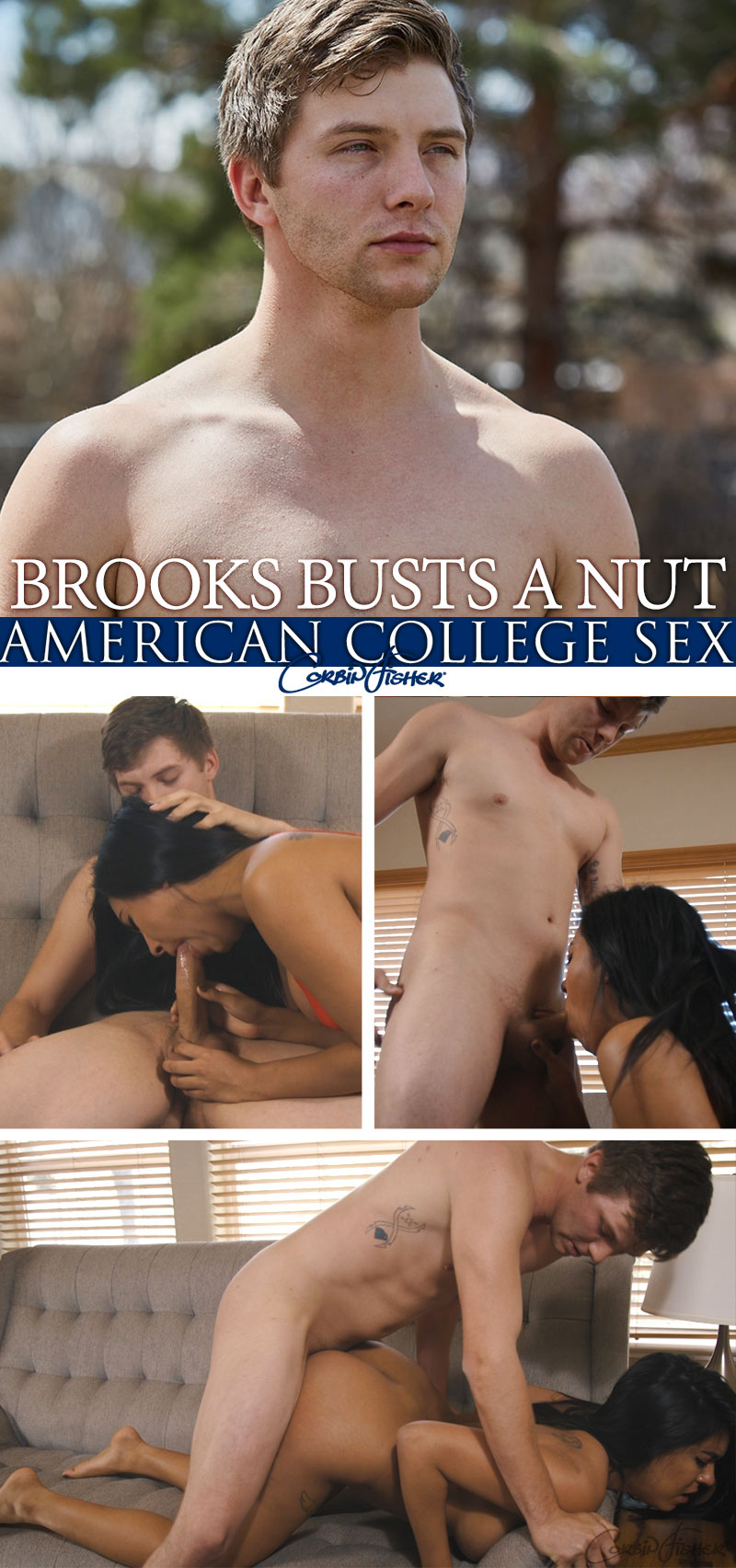Brooks Busts A Nut at AmateurCollegeSex