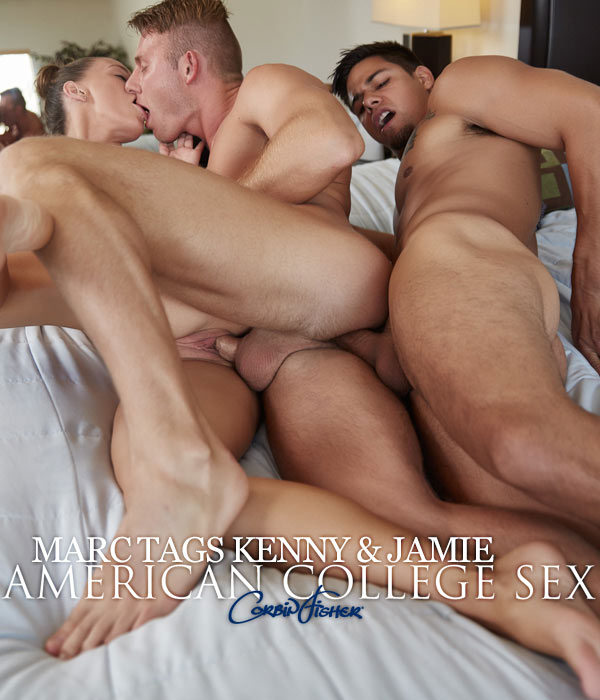 Marc Tags Kenny & Jamie (Bareback) at AmateurCollegeSex