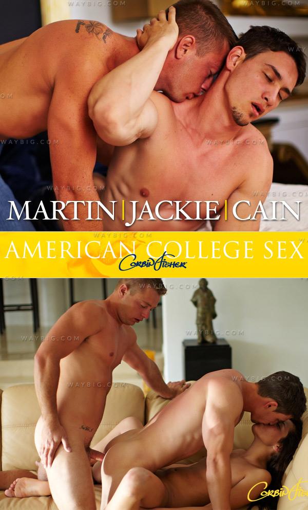 Martin & Jackie Sandwich Cain (Bareback) at American College Sex