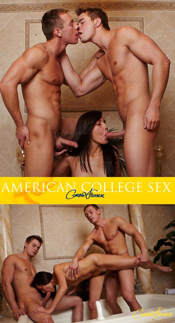 Connor & Dawson (Bi Tag Team) (Bareback) at American College Sex