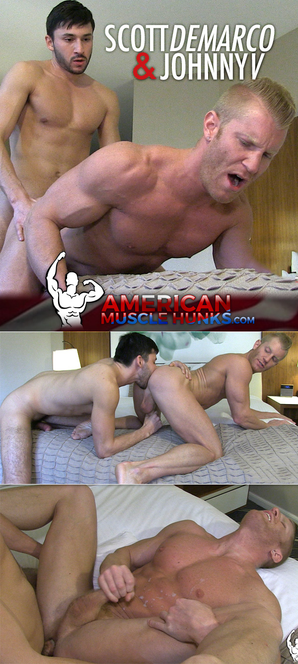Scott Demarco Fucks Johnny V at American Muscle Hunks