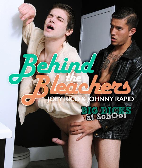 Behind The Bleachers (Joey Rico & Johnny Rapid) at BigDicksAtSchool