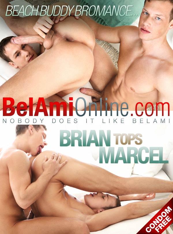 Marcel Gassion & Brian Jovovich (Bareback Beach Buddy Romance) at BelAmiOnline at BelAmiOnline.com