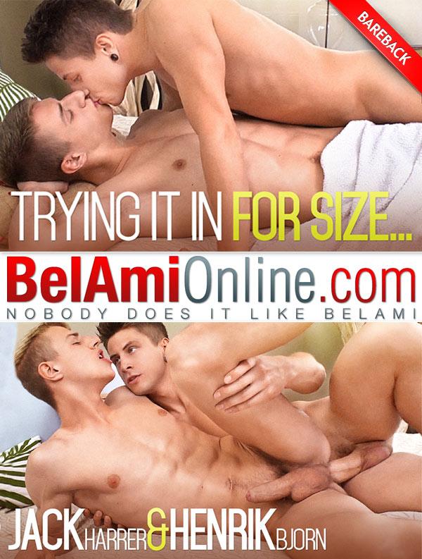 Trying It In For Size (Jack Harrer Fucks Henrik Bjorn) at BelAmiOnline.com