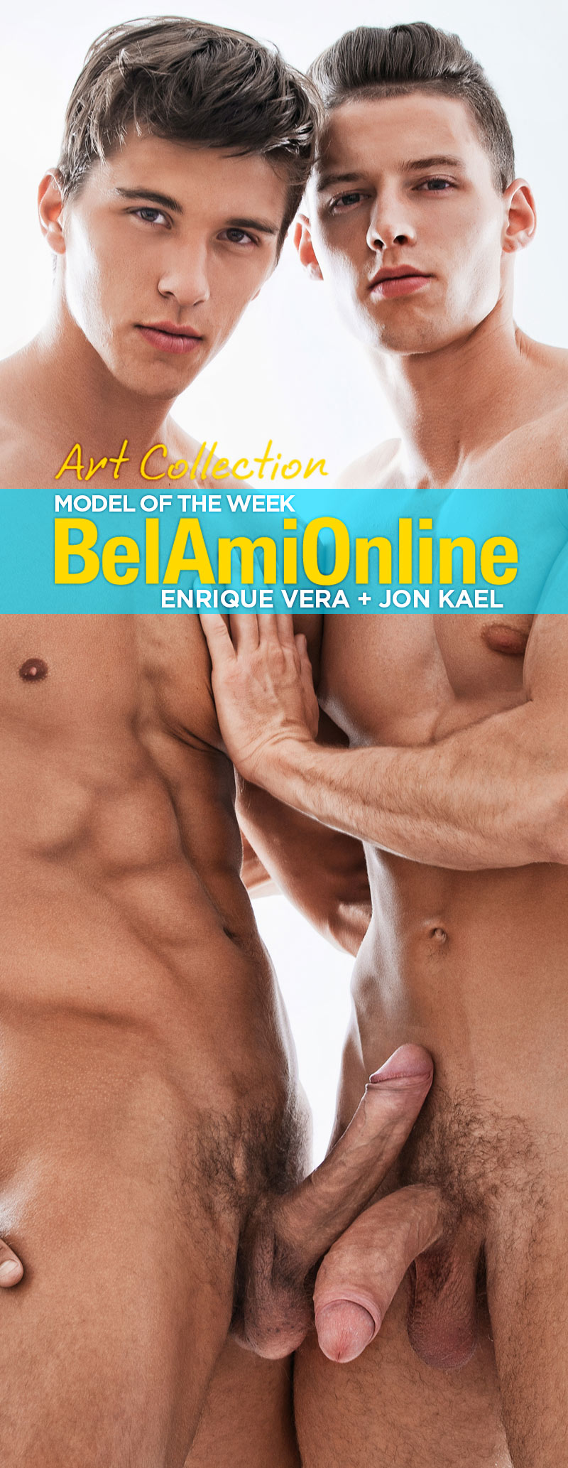 Enrique Vera and Jon Kael (Model Of The Week - Art Collection) at BelAmiOnline.com