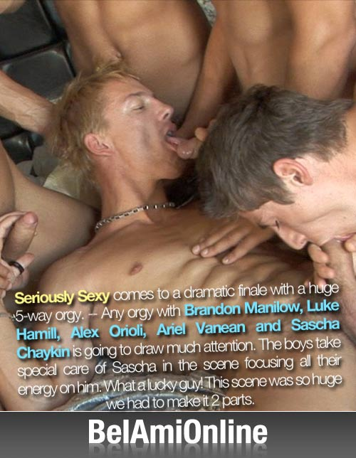 Seriously Sexy Finale (Brandon, Luke, Alex, Ariel & Sascha) at BelamiOnline