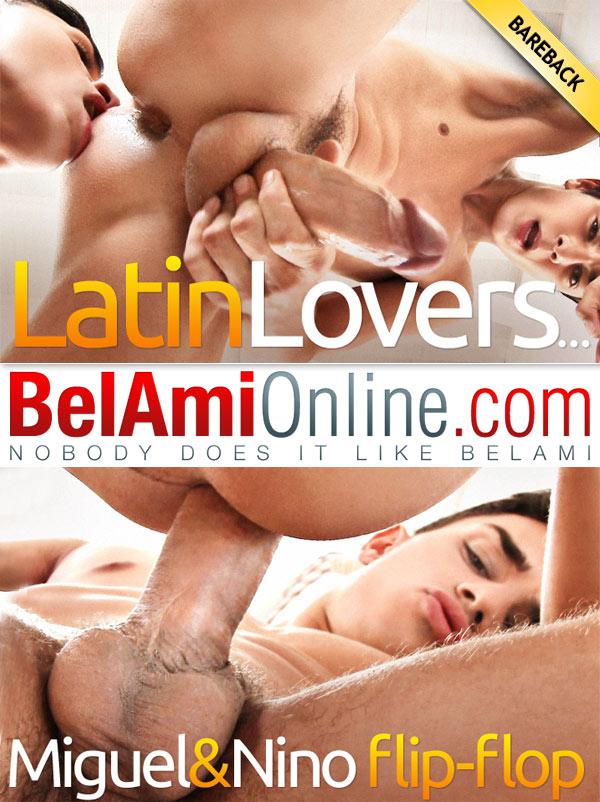 Latin Lovers (Miguel Estevez & Nino Valens Flip-Fuck) at BelAmiOnline.com