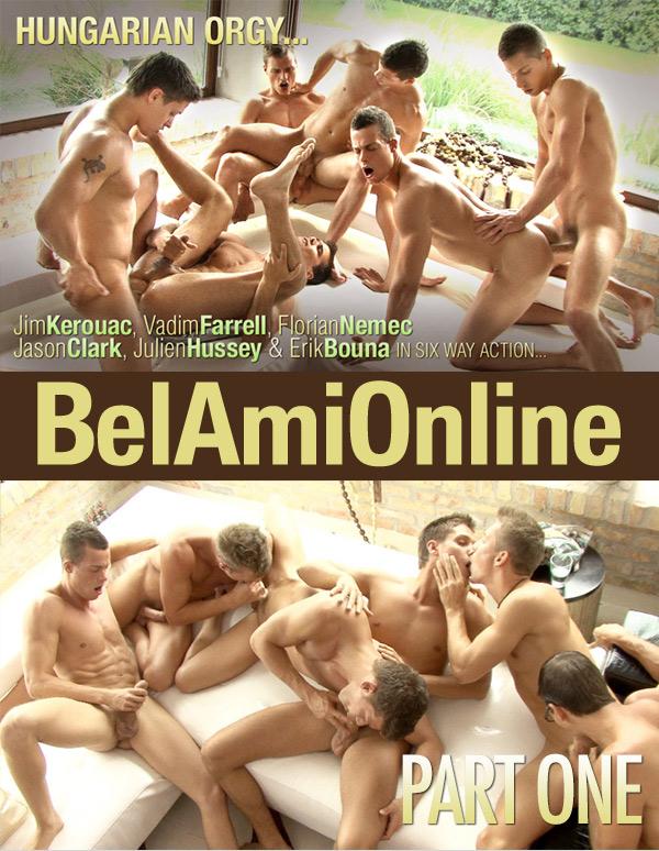 Hungarian Orgy (Jim Kerouac, Julian Hussey, Vadim Farrell, Jason Clark, Florian Nemec & Erik Bouna) (Part 1) at BelAmiOnline.com