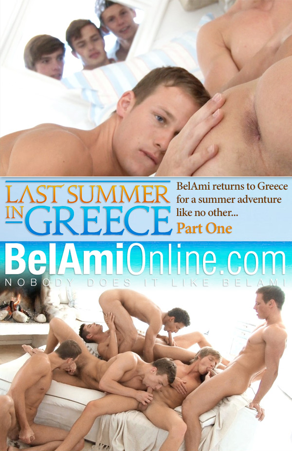 Last Summer in Greece (Adam Archuleta, Marc Ruffalo, Marcel Gassion, Robin Michaux, Brian Jovovich & Roald Ekberg) (Part 1) (Bareback) at BelAmiOnline.com