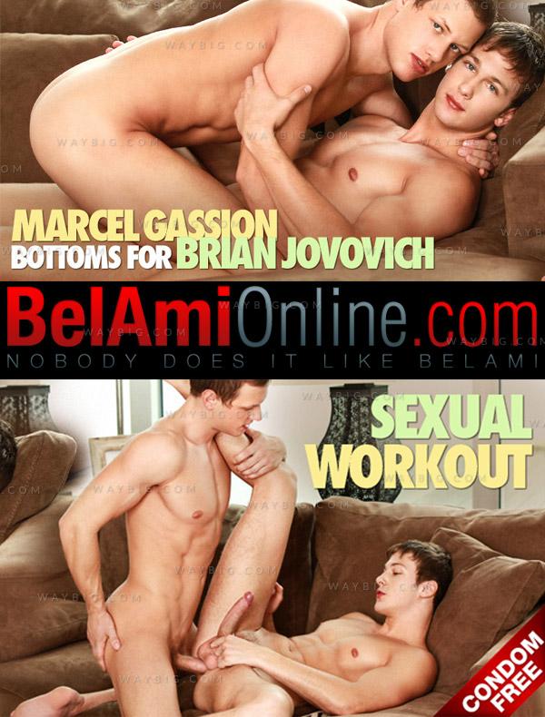 Marcel Gassion & Brian Jovovich (Bareback) at BelAmiOnline.com