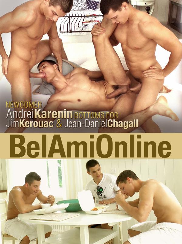 Jim Kerouac, Jean-Daniel Chagall & Andrei Karenin (Bareback) at BelAmiOnline.com