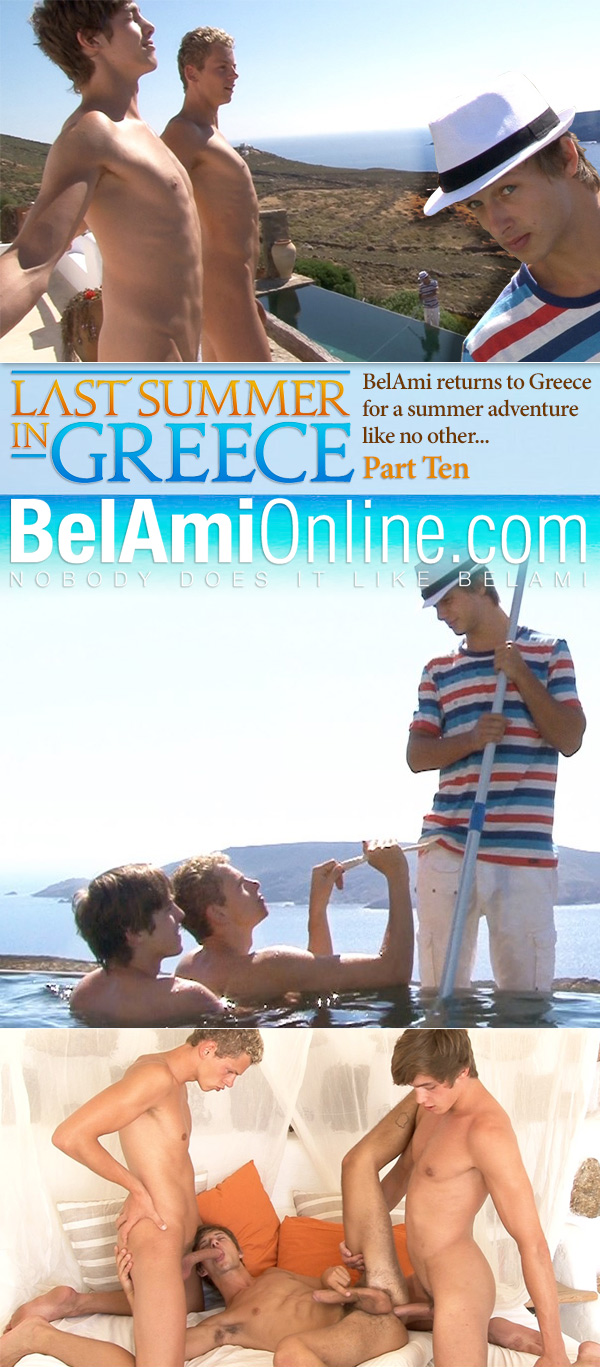 Last Summer in Greece (Helmut Huxley, Jerome Exupery & Bastian Duffy) (Part 10) (Bareback) at BelAmiOnline.com