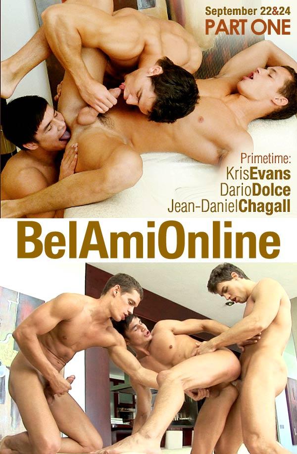 Dario Dolce, Kris Evans & Jean-Daniel Chagall (Part 1) at BelamiOnline