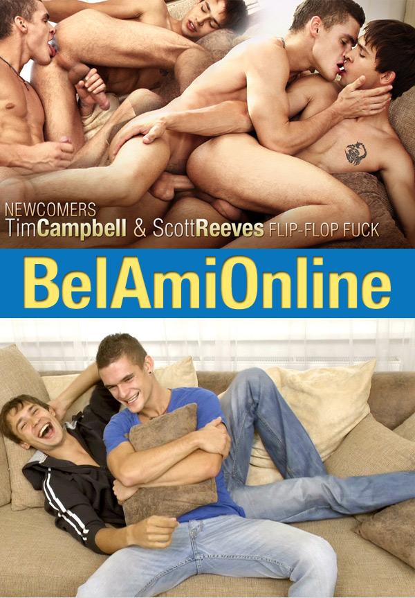 BelAmiOnline: Scott Reeves & Tim Campbell (Parts 1 & 2) (Bareback Flip-Flop) at BelAmiOnline.com