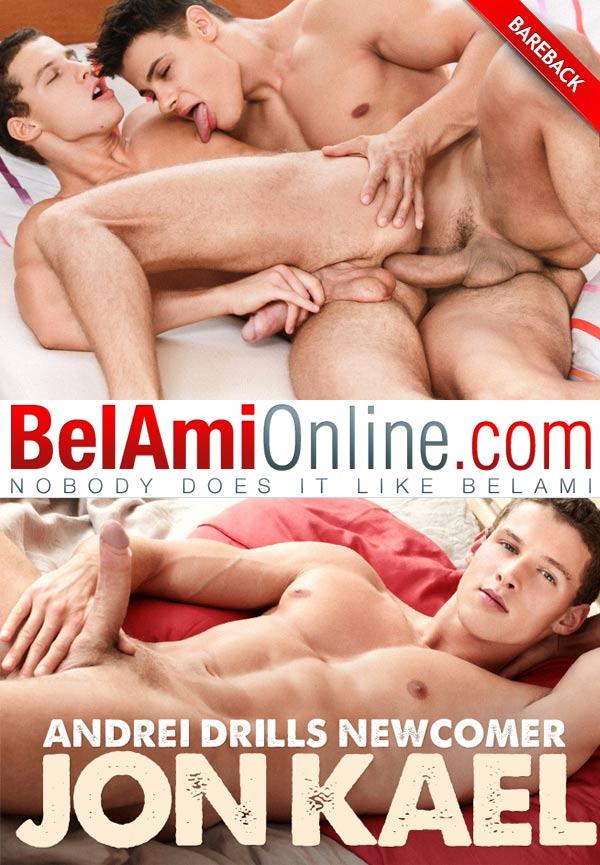 Andrei Karenin Drills Newcomer Jon Kael (Bareback) at BelAmiOnline.com