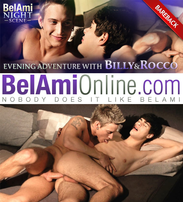 Evening Adventure (Rocco Alfieri & Billy Cotton) (Bareback Night Scene) at BelAmiOnline at BelAmiOnline.com