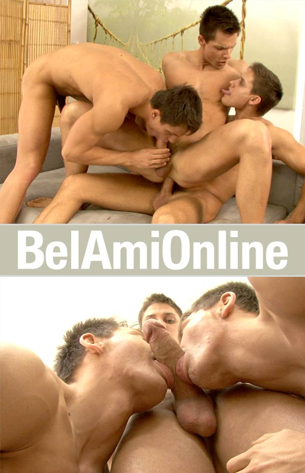 The Peters Twins & Vadim Farrell (Bareback) at BelamiOnline