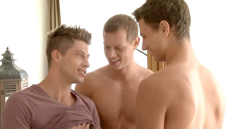Offensively Large: XXL Threesome Fuck (Jack Harrer, Brian Jovovich & Peter Annaud) at BelAmiOnline.com