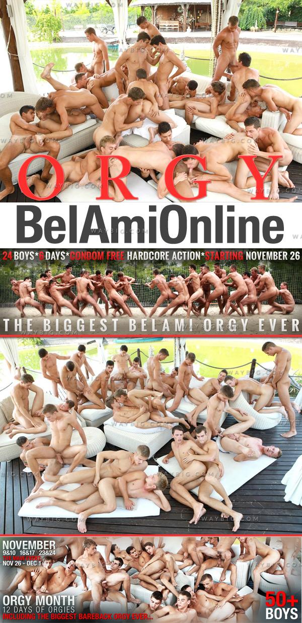 Orgy (24 Boys In Action) (Bareback) at BelAmiOnline.com