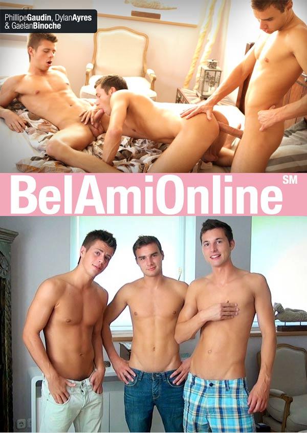 Gaelan Binoche, Dylan Ayres & Phillipe Gaudin (Parts 1 & 2) (Bareback) at BelAmiOnline.com