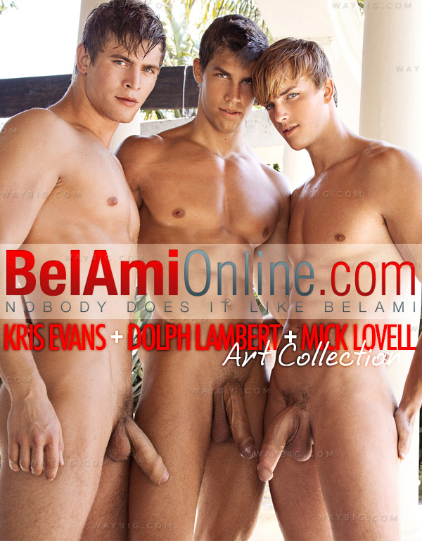 Kris Evans, Dolph Lambert & Mick Lovell (Art Collection) (African Photoshoot) at BelAmiOnline.com