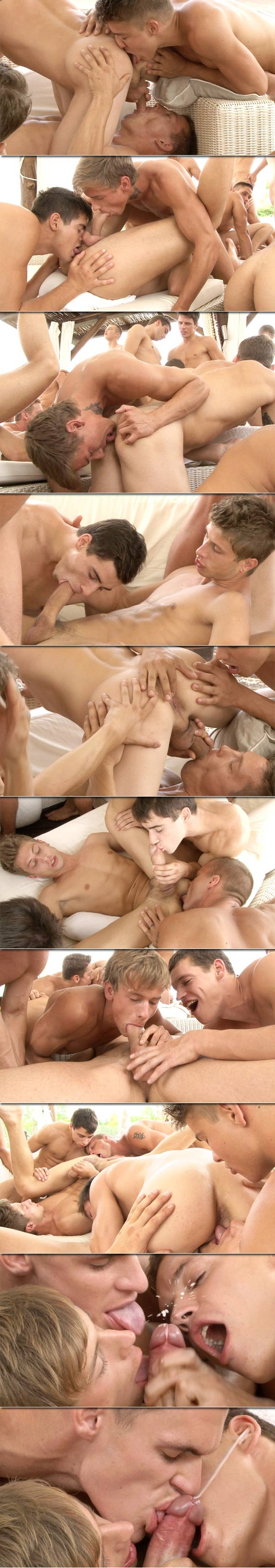 Orgy (24 Boys In Blow Job Action) (Part 3) at BelAmiOnline.com