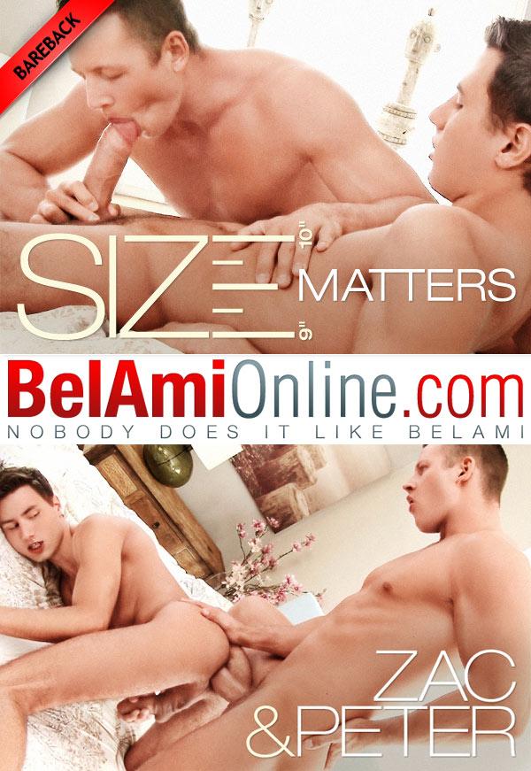 Size Matters (Zac DeHaan Fucks Peter Annaud) (Bareback) at BelAmiOnline.com