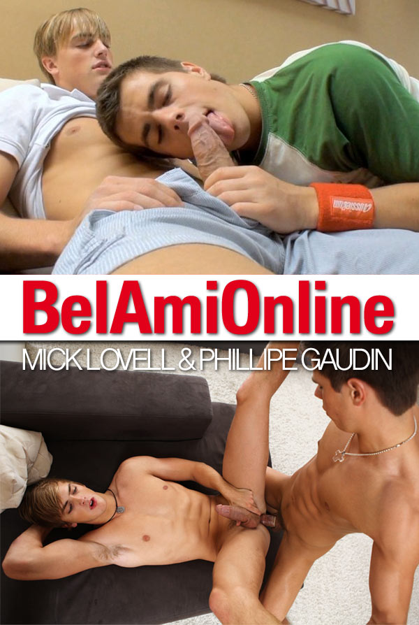 Mick Lovell's First Fuck (with Phillipe Gaudin) at BelAmiOnline