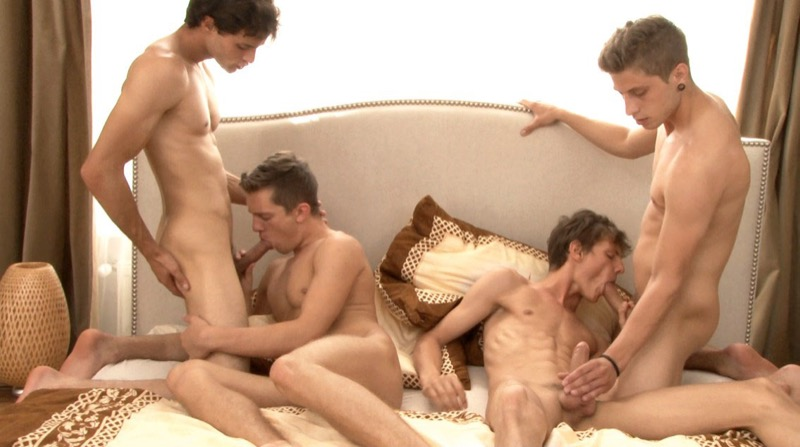 These Boys Are Insatiable (Jack Harrer, Andre Boleyn, Liam Efron and Felix Gaul) at BelAmiOnline.com