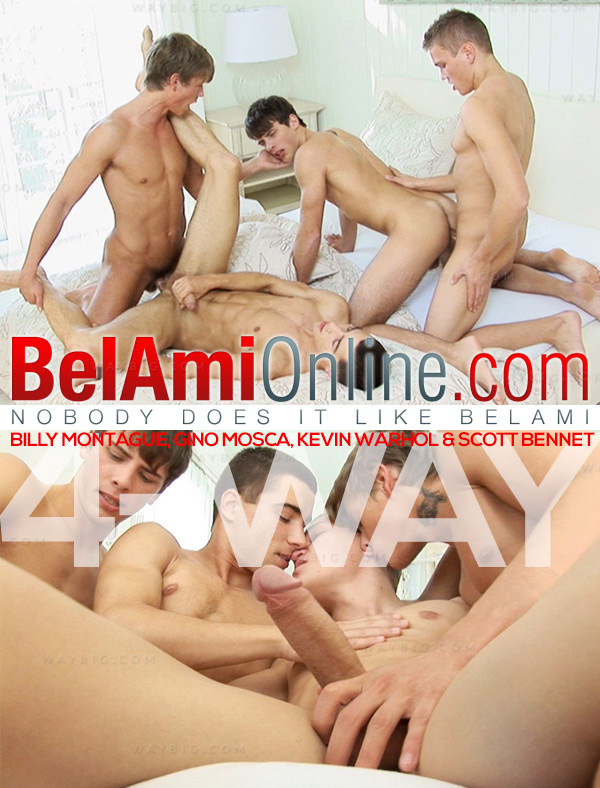 Billy Montague, Gino Mosca, Kevin Warhol & Scott Bennet at BelAmiOnline.com
