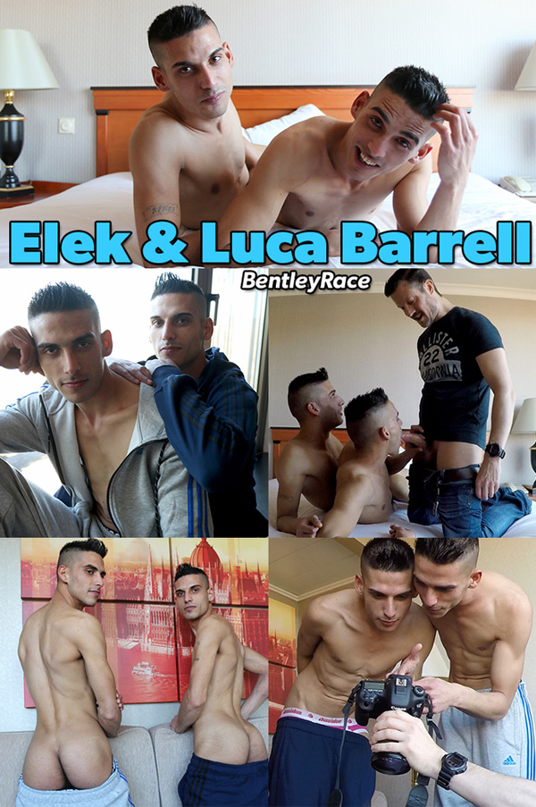 Gay Twin Brothers Elek & Luca Barrell Suck Ben's Cock at Bentley Race