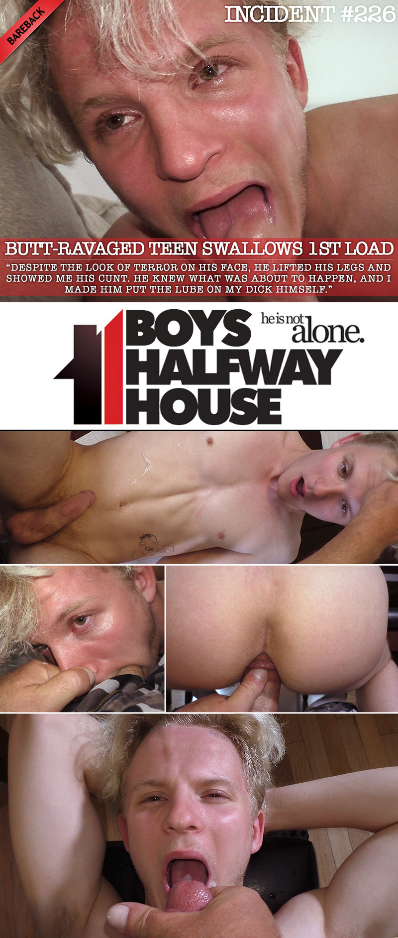 Incident #226: Butt-Ravaged Teen Swallows 1st Load (with Malachi Rayne) at Boys Halfway House