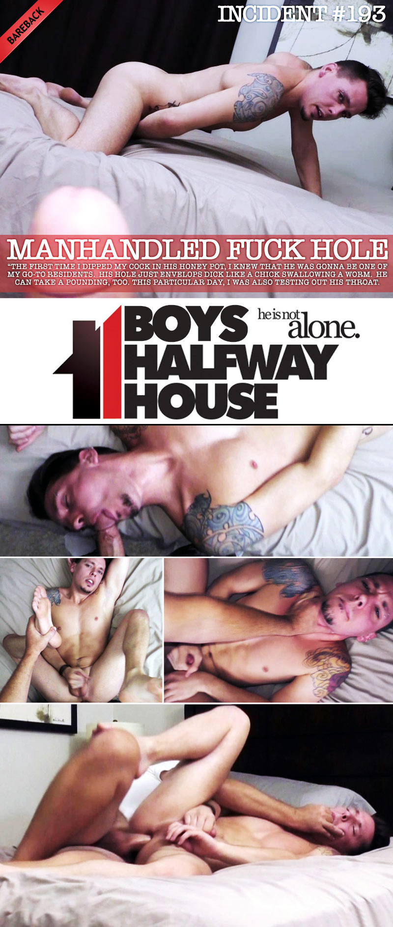 Incident #193: Manhandled Fuck Hole (with Trayce Travis) at Boys Halfway House